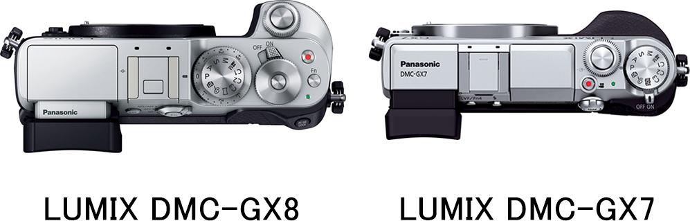 上面 LUMIX DMC-GX8 vs. LUMIX DMC-GX7