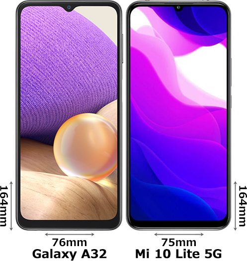「Galaxy A32」と「Xiaomi Mi 10 Lite 5G」 1