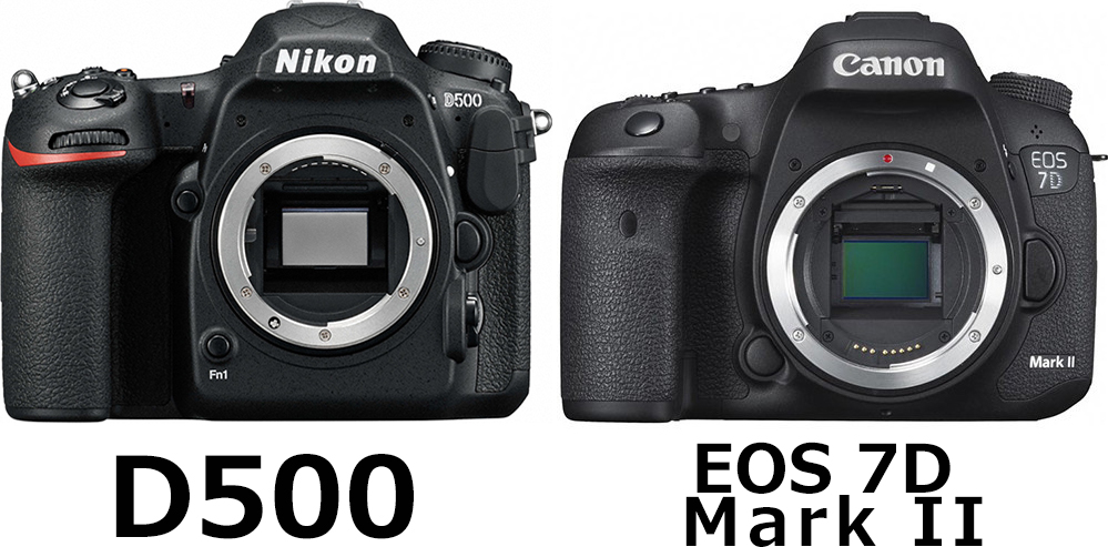 正面:D500 vs. EOS 7D Mark II