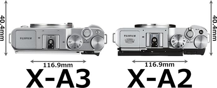 「FUJIFILM X-A3」と「FUJIFILM X-A2」 3