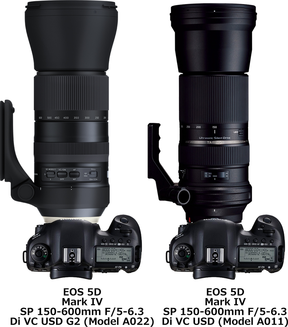 「SP 150-600mm F/5-6.3 Di VC USD G2 (Model A022)」と「SP 150-600mm F/5-6.3 Di VC USD (Model A011)」 2