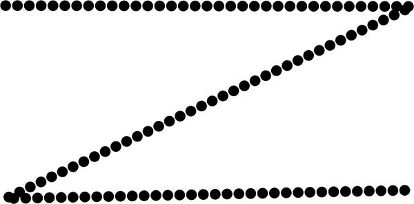 ブラシツールで点線を描く方法 4