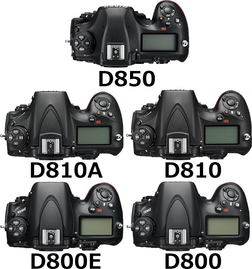 上面 D800シリーズ(D810A、D810、D800E、D800)