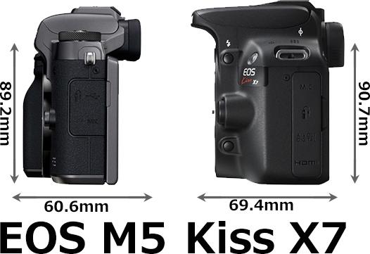 「EOS M5」と「EOS Kiss X7」 5