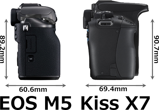 「EOS M5」と「EOS Kiss X7」 6