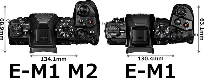 「OM-D E-M1 Mark II」と「OM-D E-M1」 3