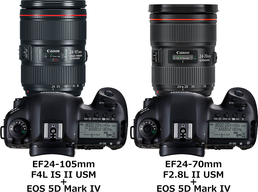 キヤノン「EF24-105mm F4L IS II USM」と「EF24-70mm F2.8L II USM」 2