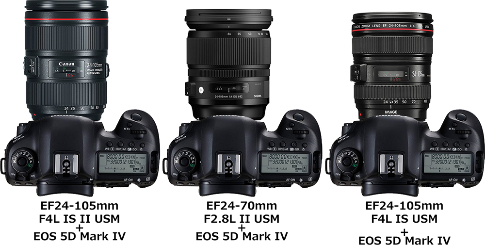 キヤノン「EF24-105mm F4L IS II USM」と「24-105mm F4 DG OS HSM」と「EF24-105mm F4L IS USM」 2