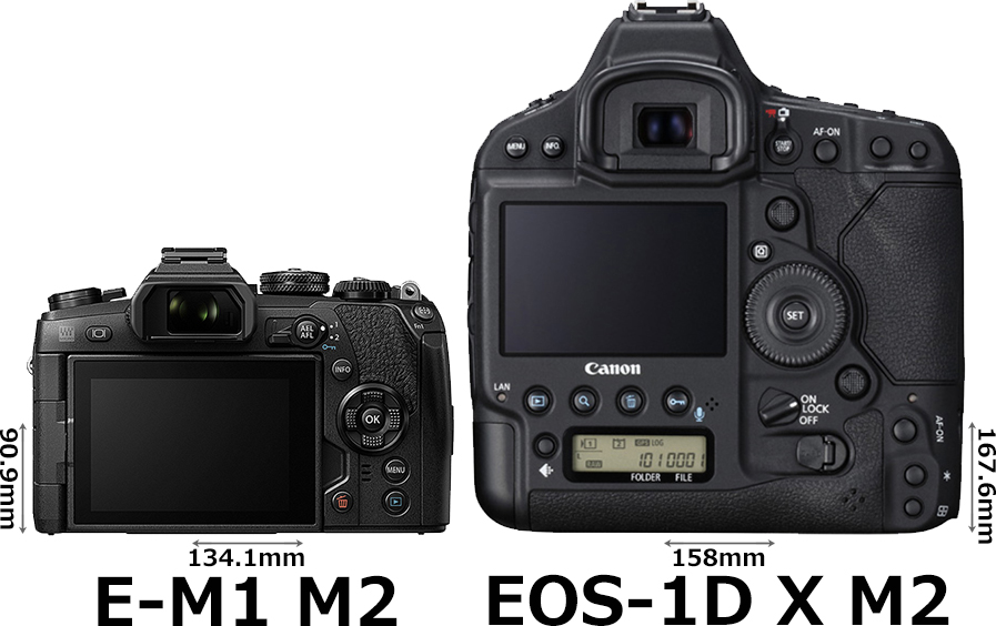 「OM-D E-M1 Mark II」と「EOS-1D X Mark II」 2