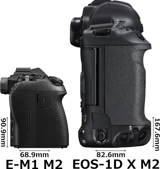 「OM-D E-M1 Mark II」と「EOS-1D X Mark II」 5