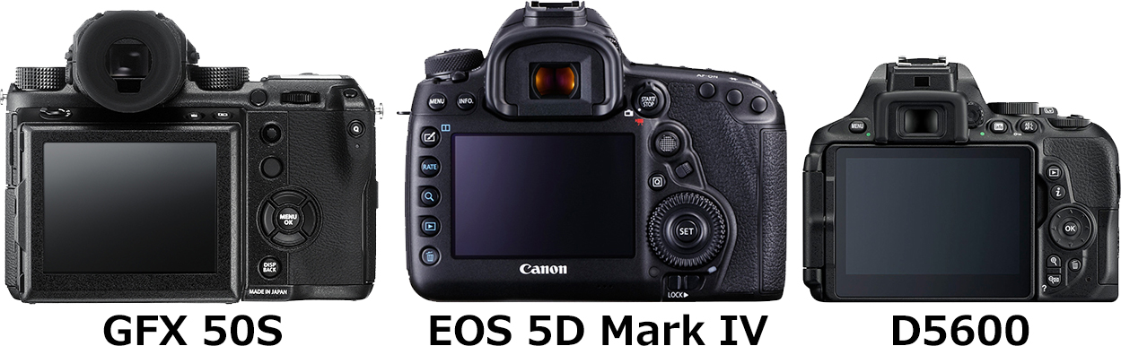 「GFX 50S」と「EOS 5D Mark IV」と「D5600」 2