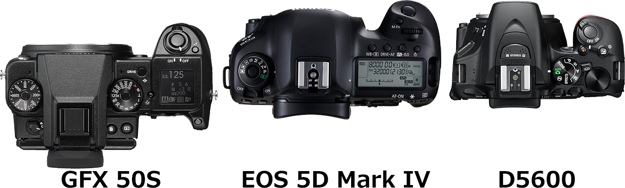 「GFX 50S」と「EOS 5D Mark IV」と「D5600」 4