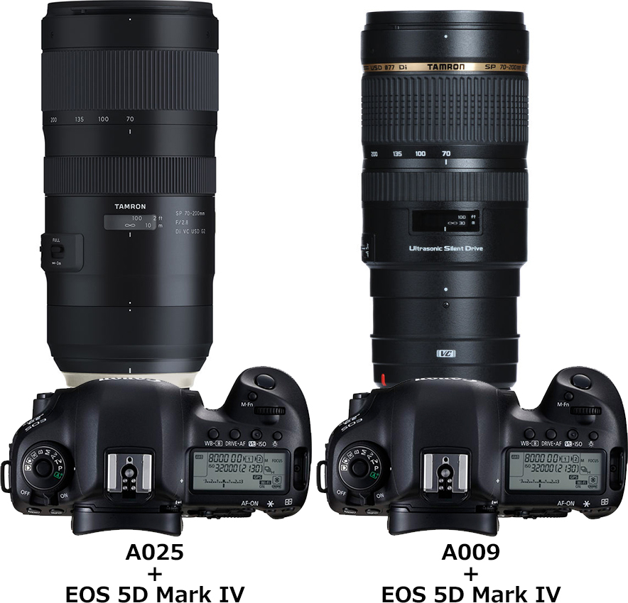 「SP 70-200mm F/2.8 Di VC USD G2 (Model A025)」と「SP 70-200mm F/2.8 Di VC USD (Model A009)」 1