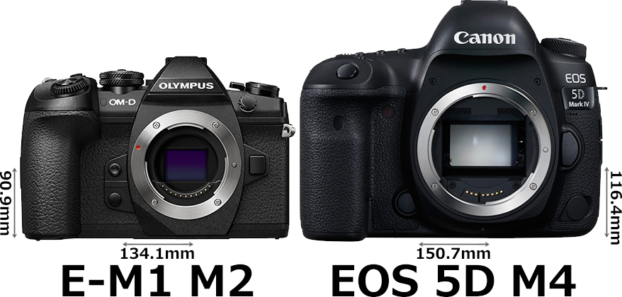 「OM-D E-M1 Mark II」と「EOS 5D Mark IV」 1