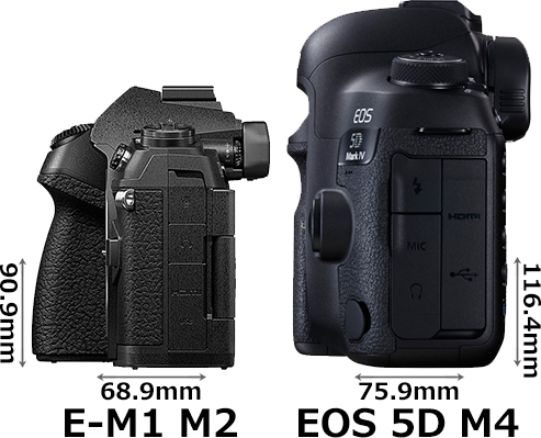 「OM-D E-M1 Mark II」と「EOS 5D Mark IV」 4