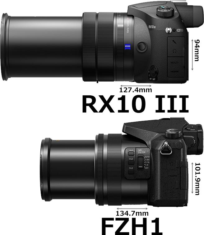 「LUMIX DMC-FZH1」と「RX10 III」 6
