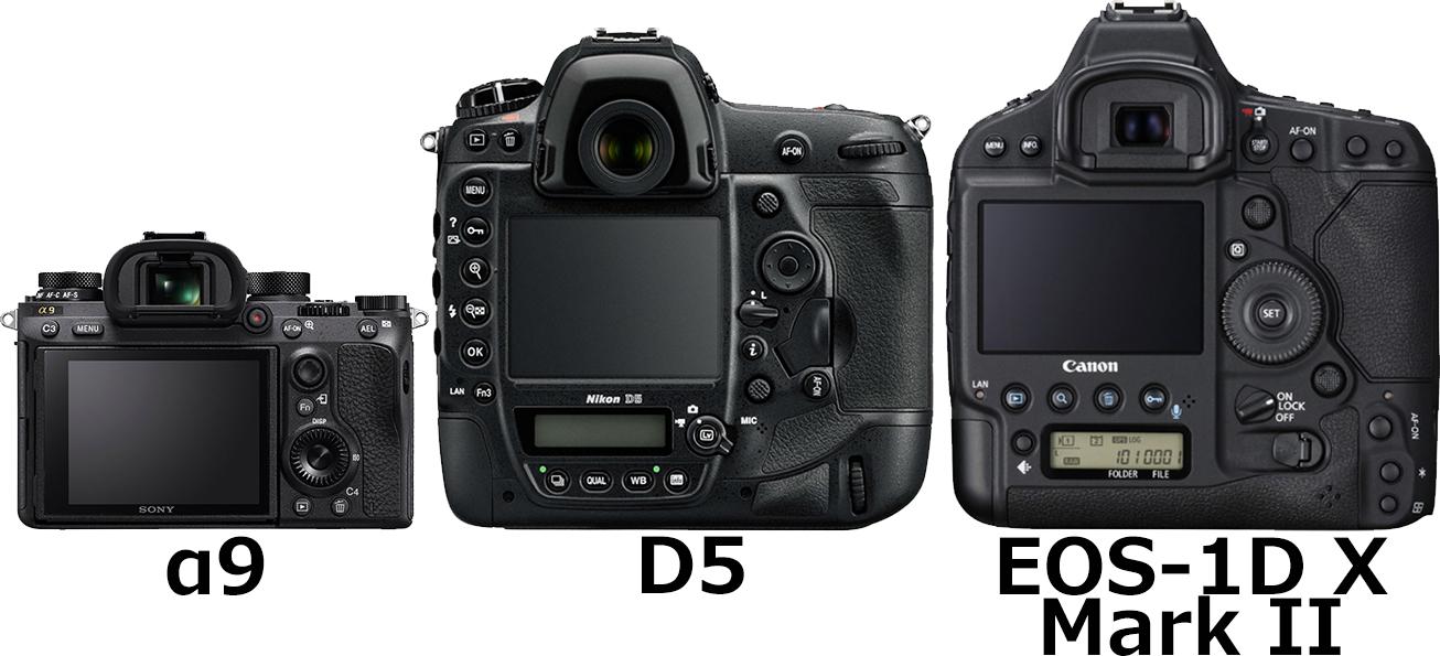 「α9」と「D5」と「EOS-1D X Mark II」 2