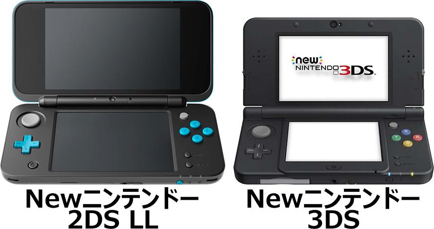 「Newニンテンドー2DS LL」と「Newニンテンドー3DS」 4