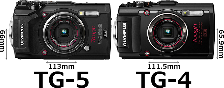 「OLYMPUS TG-5 Tough」と「OLYMPUS TG-4 Tough」 1