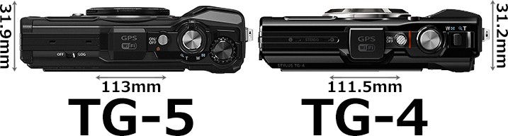 「OLYMPUS TG-5 Tough」と「OLYMPUS TG-4 Tough」 3