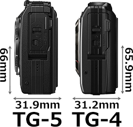 「OLYMPUS TG-5 Tough」と「OLYMPUS TG-4 Tough」 4