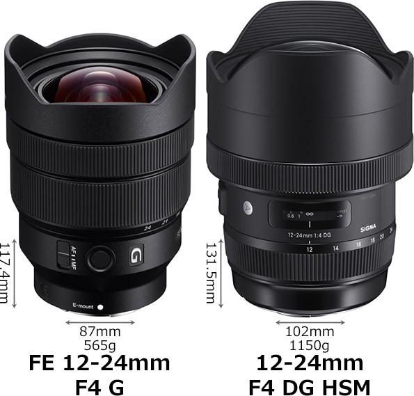 ソニー「FE 12-24mm F4 G」とシグマ「12-24mm F4 DG HSM」 1