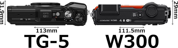 「Tough TG-5」と「COOLPIX W300」 3