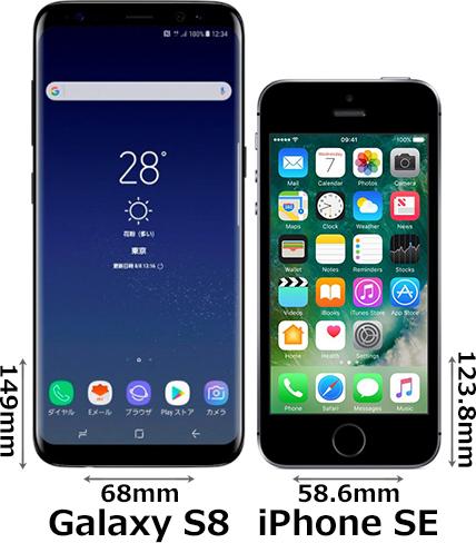 「Galaxy S8」と「iPhone SE」 1