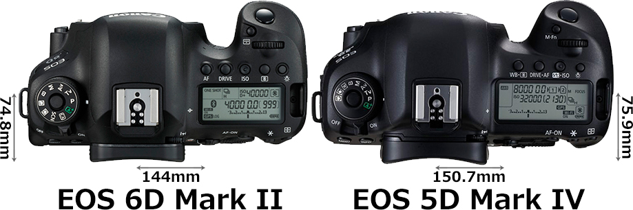 「EOS 6D Mark II」と「EOS 5D Mark IV」 3
