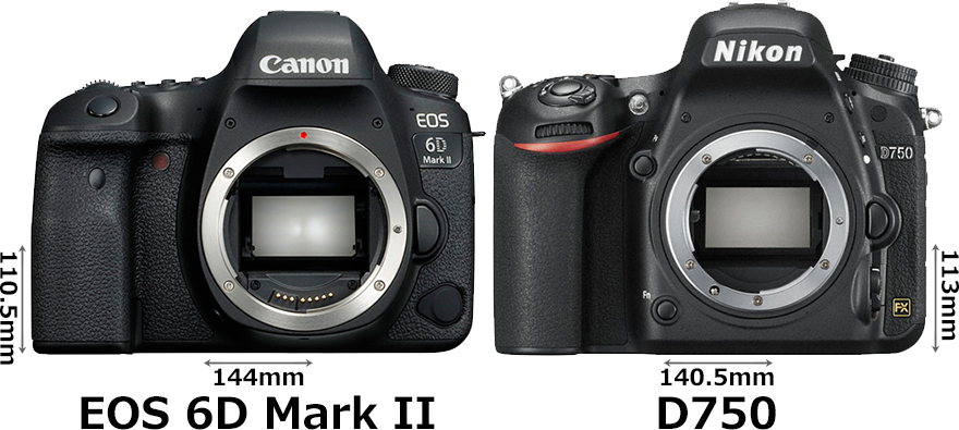 「EOS 6D Mark II」と「D750」 1