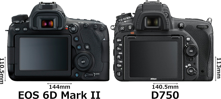 「EOS 6D Mark II」と「D750」 2