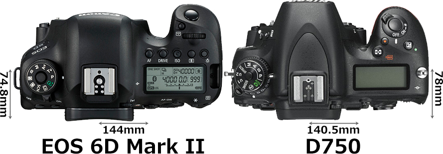 「EOS 6D Mark II」と「D750」 3