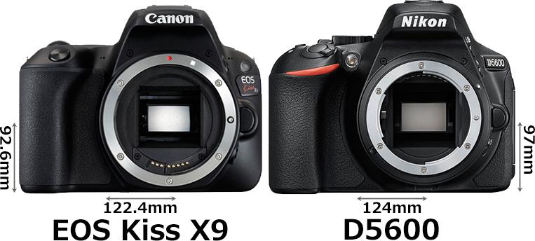「EOS Kiss X9」と「D5600」 1