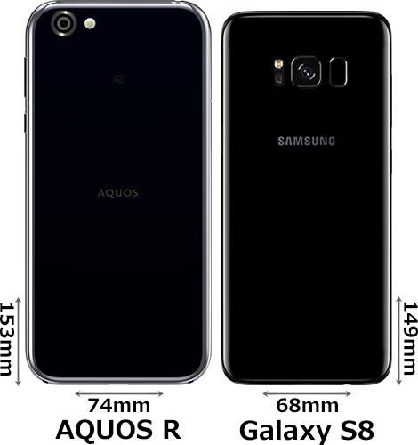 「AQUOS R」と「Galaxy S8」 2