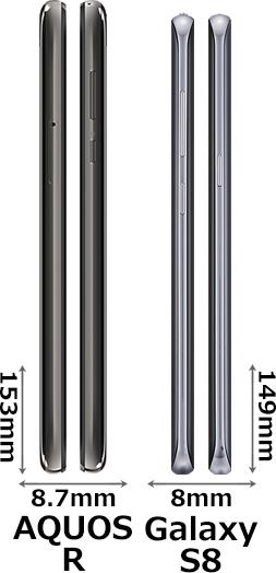 「AQUOS R」と「Galaxy S8」 3