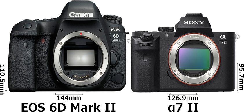 「EOS 6D Mark II」と「α7 II」 1