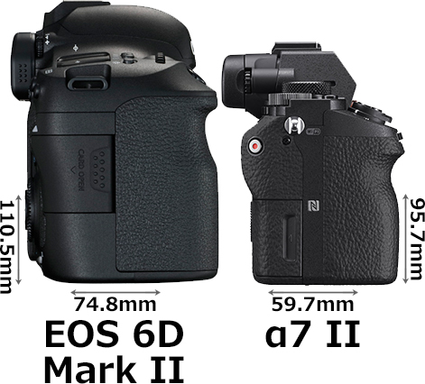「EOS 6D Mark II」と「α7 II」 5