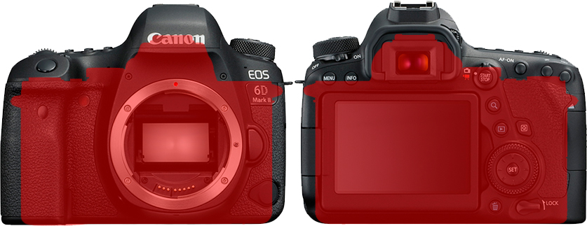 「EOS 6D Mark II」と「α7 II」 6