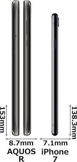 「AQUOS R」と「iPhone 7」 3