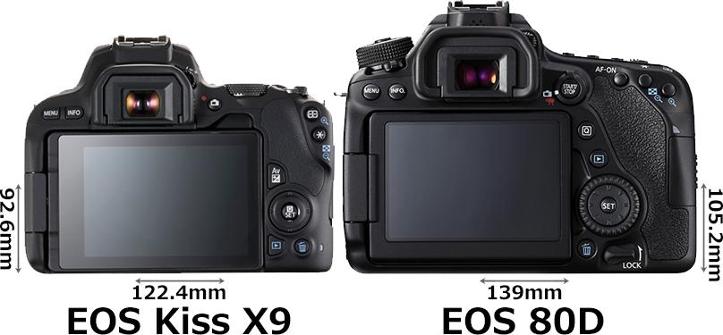 「EOS Kiss X9」と「EOS 80D」 2