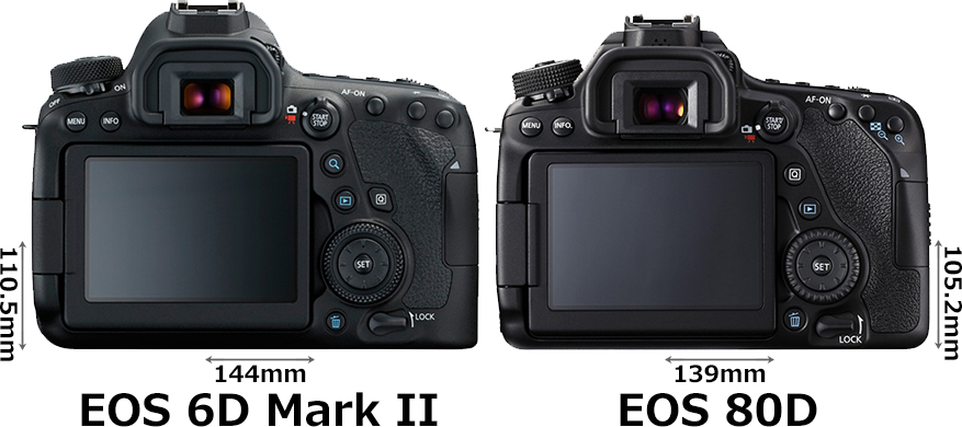 「EOS 6D Mark II」と「EOS 80D」 2