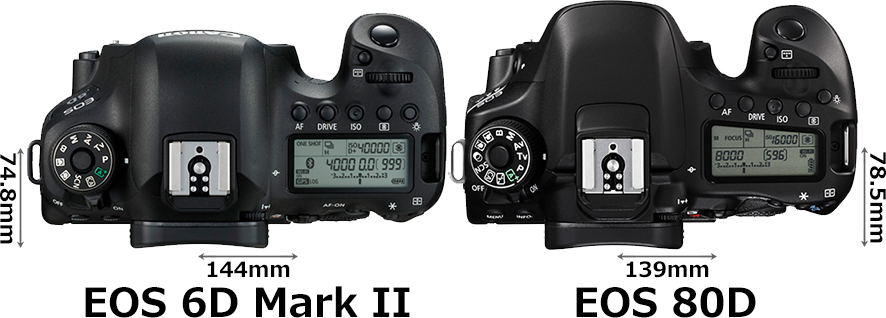 「EOS 6D Mark II」と「EOS 80D」 3