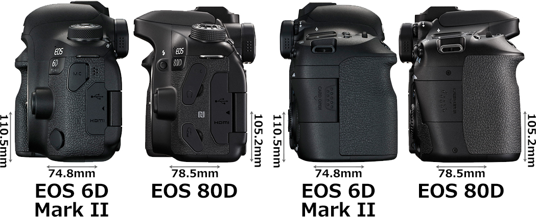 「EOS 6D Mark II」と「EOS 80D」 4