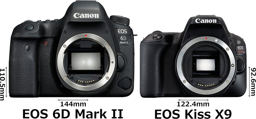 「EOS 6D Mark II」と「EOS Kiss X9」 1