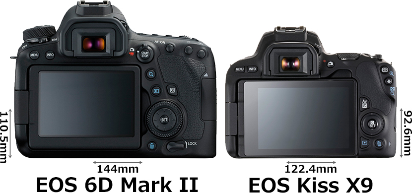 「EOS 6D Mark II」と「EOS Kiss X9」 2