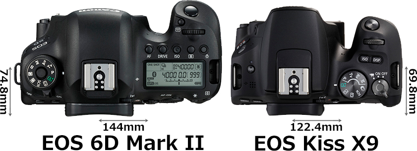 「EOS 6D Mark II」と「EOS Kiss X9」 3