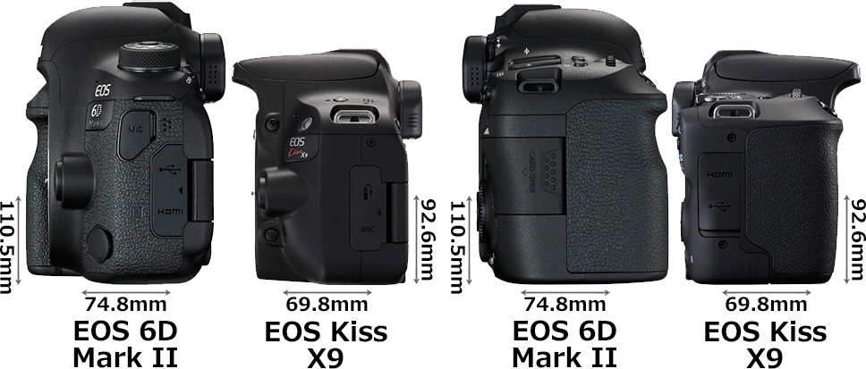 「EOS 6D Mark II」と「EOS Kiss X9」 4