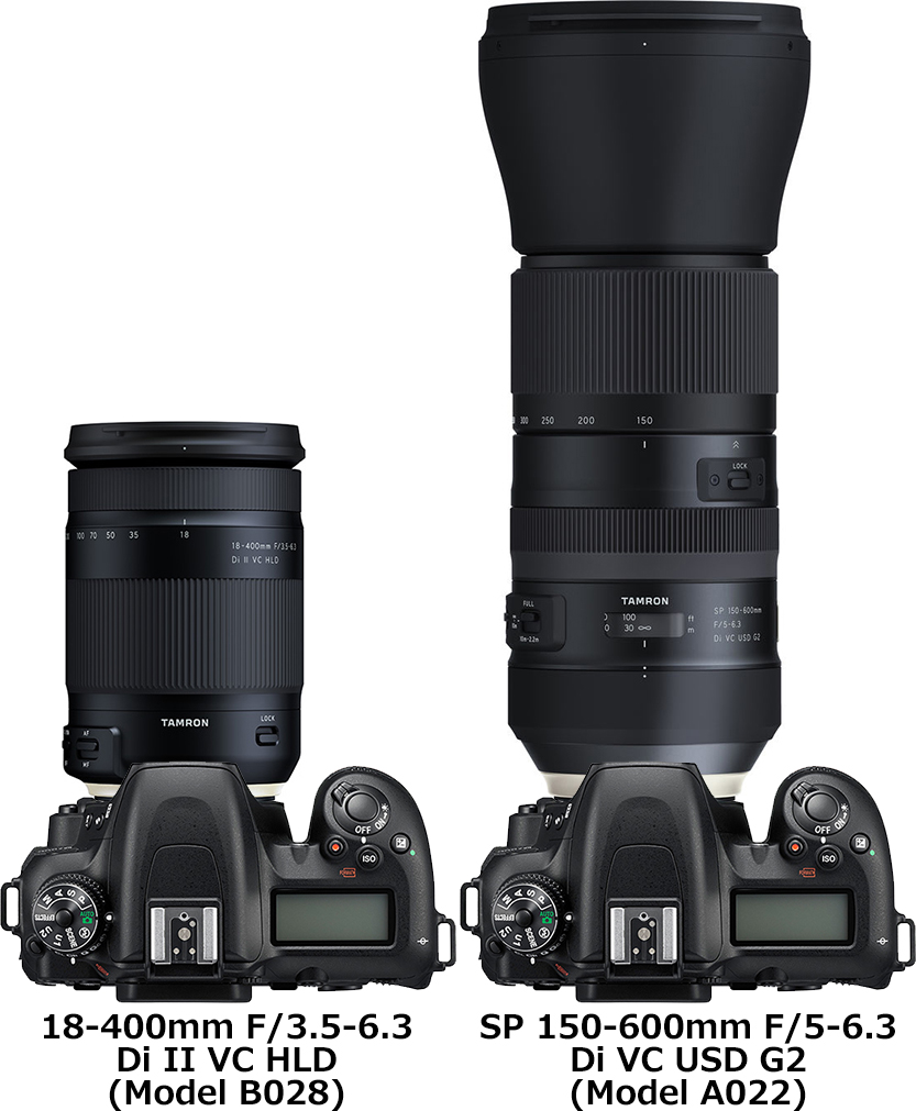 「18-400mm F/3.5-6.3 Di II VC HLD (Model B028)」と「SP 150-600mm F/5-6.3 Di VC USD G2 (Model A022)」 2