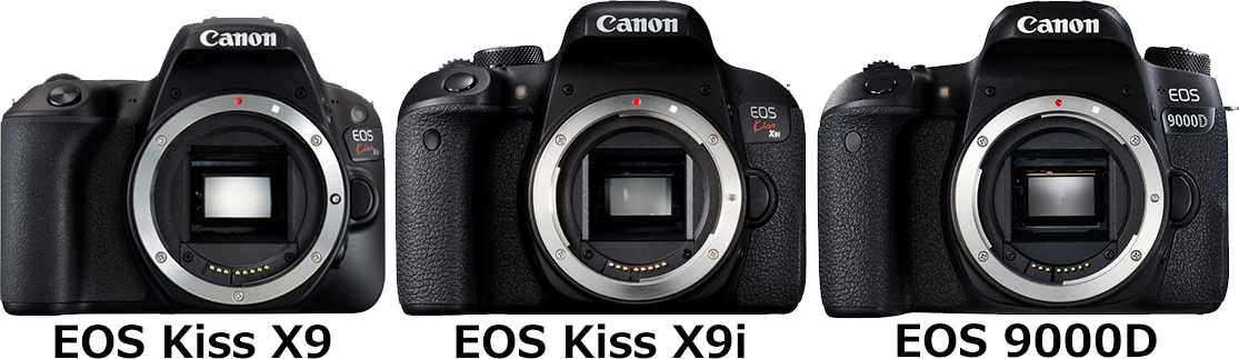 「EOS Kiss X9」と「EOS Kiss X9i」と「EOS 9000D」 1