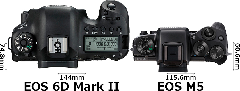 「EOS 6D Mark II」と「EOS M5」 3